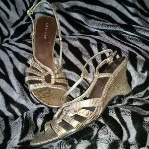 Kim Rogers gold heel, sandal 9